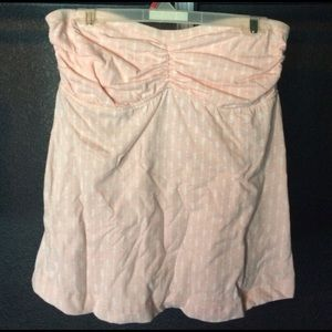 O'Niell baby pink sound wave tube top